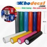 Nhận bế decal PVC dạng cuộn theo yêu cầu