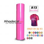 Decal chuyển nhiệt Hà Nội chất liệu PVC mầu hồng khổ 60cm x 50m giá tốt