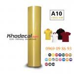 Hot decal vàng kim chất lượng cao PVC bóc dễ ép áo cầu thủ sao vàng