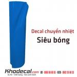 Decal chuyển nhiệt xanh lam siêu bóng khổ 60cm x 25m Trung Quốc